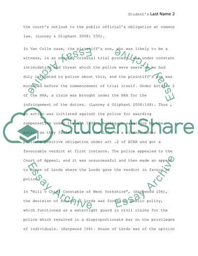 Tort law undergraduate