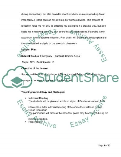 Teaching and learning in practice essay example