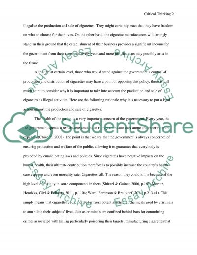 Critical thinking essay example