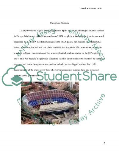 Camp Nou Stadium essay example