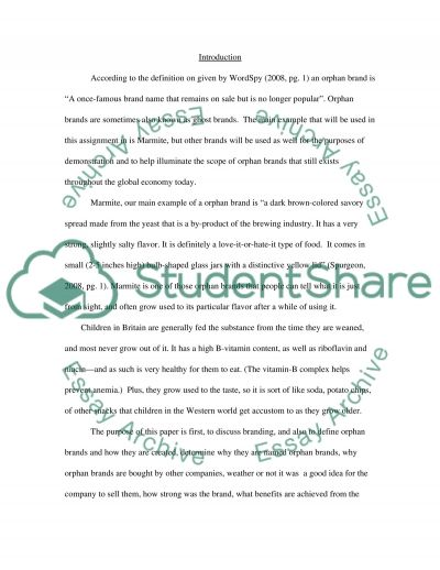 Orphan Brands essay example