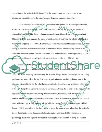 Sample Essays High School Dominant Points Of The Eliminative Materialism Public Health Essay also Gender Equality Essay Paper Dominant Points Of The Eliminative Materialism Essay Essay Term Paper