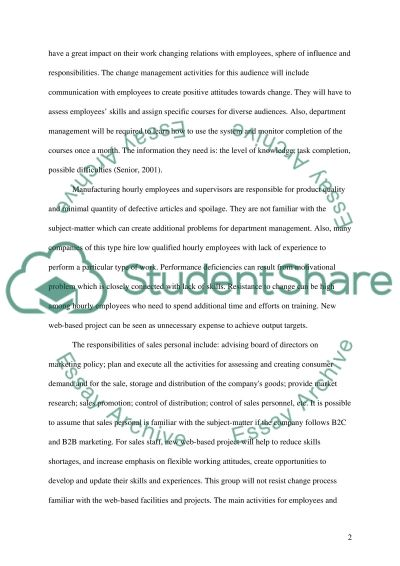 The role of Executive management Essay example