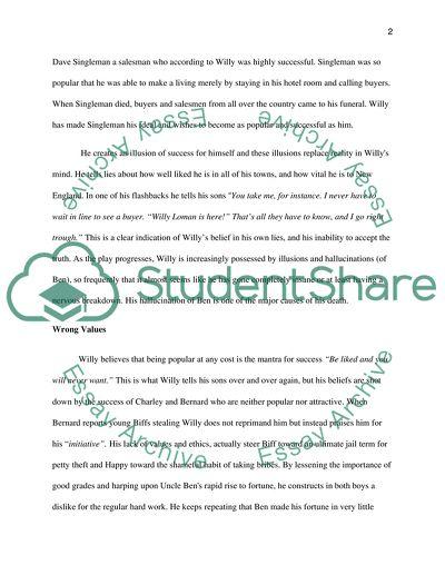 English Grade 12 - Death of a Salesman essay assignment