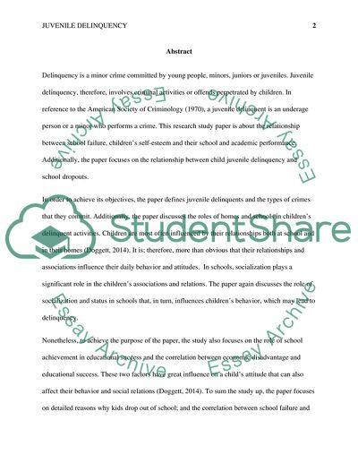 Phd thesis juvenile delinquency
