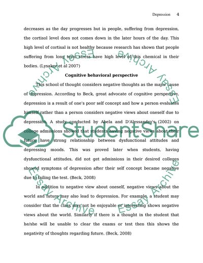 U05a1- Problems Definition and Research Intrest Statement on Depression