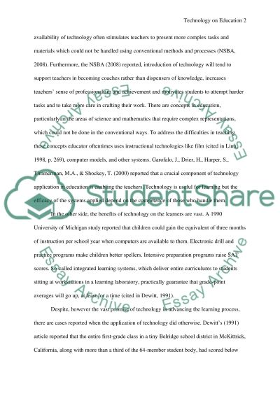 The Impact of Technology on Education essay example