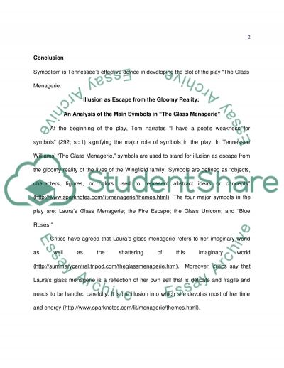 The Symbolisms in the Glass Menagerie essay example