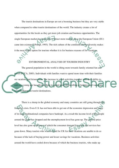 TUI ( tuarism industry ) case study