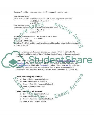 Chem 1 essay example