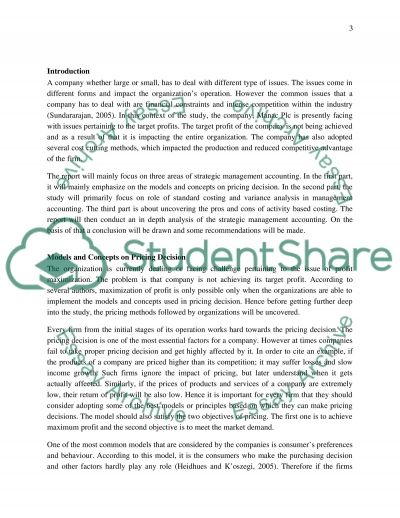 The assignment - Background information - You are the financial director of a large, ficticious company called Manac plc, which essay example