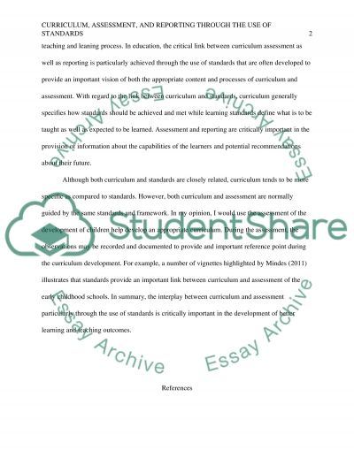 Linking curriculum and assessment essay example