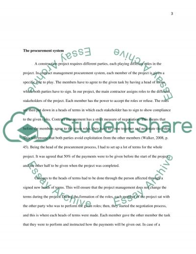Construction Management essay example