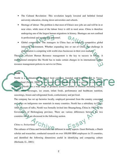 China and international human resource management of Nestl