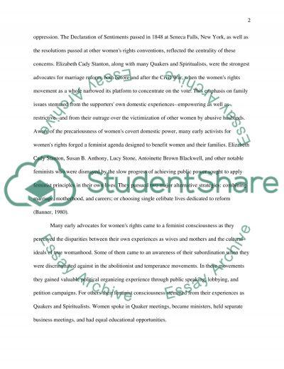 Feminism Essay essay example