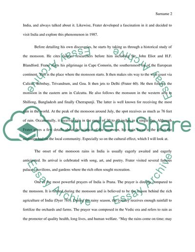 Journal to the East Essay
