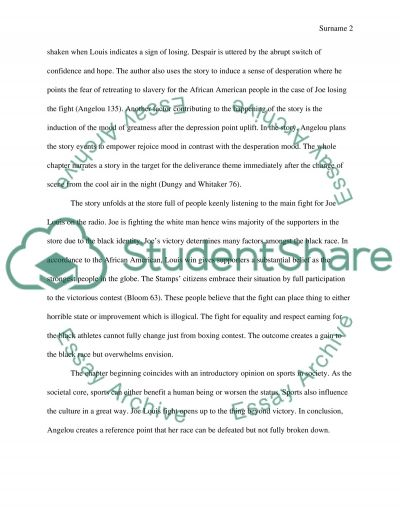 Champion of the world by maya Angelou chapter 19 essay example