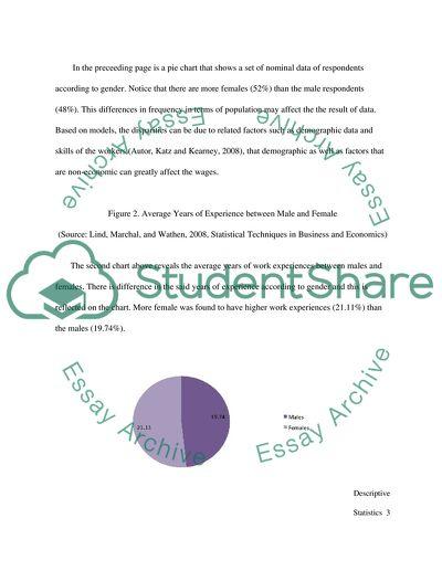 Descriptive statistics in dissertation