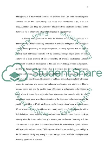 Artificial Intelligence Essay example