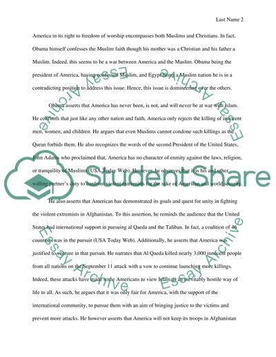 Essays On English Literature Barack Obama Speech In Cairo Synthesis Essay Introduction Example also Healthy Eating Essays Barack Obama Speech In Cairo Essay Example  Topics And Well Written  Family Business Essay