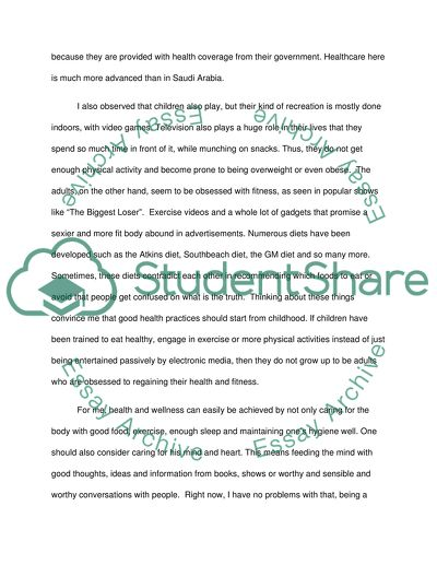 Argumentative Essay Papers  Critical Analysis Essay Example Paper also Importance Of Good Health Essay Health And Wellness In Saudi Arabia Essay Example  Topics  High School Essays Samples