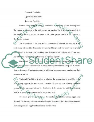 Economics coursework essay example