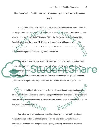 Simulation essay example