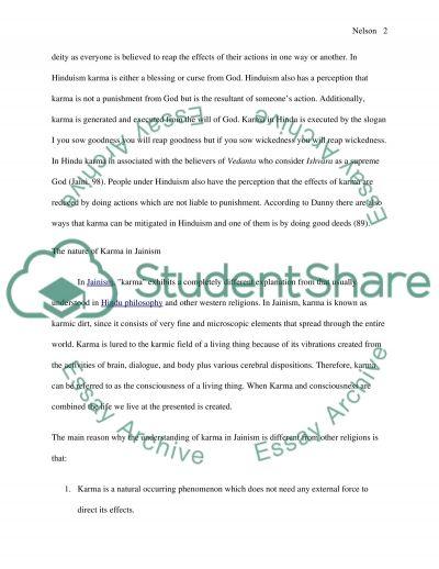 Karma essay example