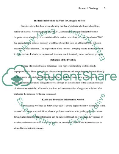 RESEARCH STRATEGY PAPER