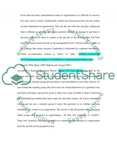 Gender Equality in Contemporary Organizations essay example