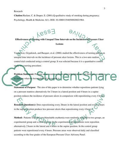 Nursing research articles