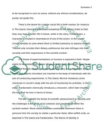 compare and contrast essay between 2 stories
