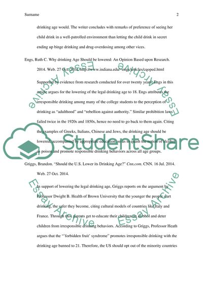 Annotated Bibliography of 5 different online sources