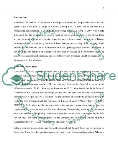 Pit Stop Case Report essay example