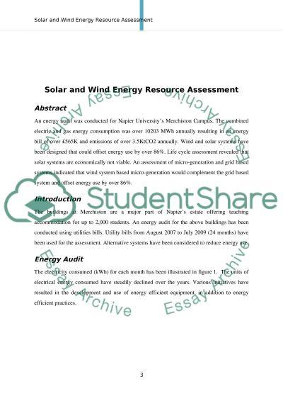 Solar & Wind Energy Resource Assessment