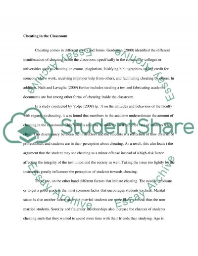 Cheating and Integrity essay example