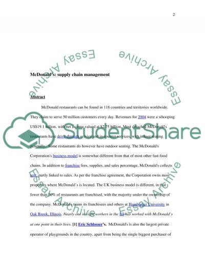 Supply Chain Management Essay Essay example