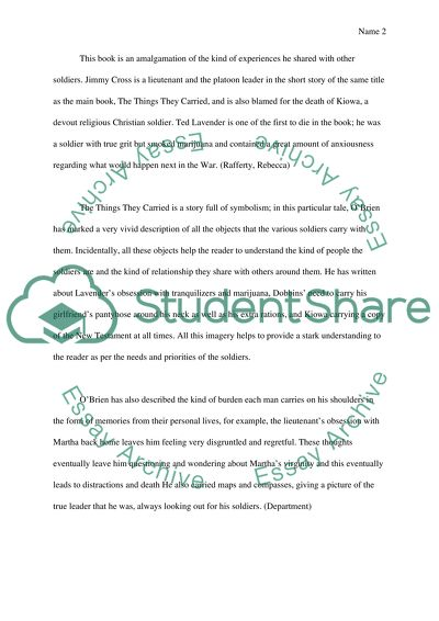 Essay short story things they carried good thesis statement for pearl harbor