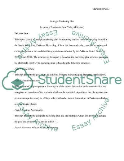 Strategic Marketing Plan Essay example