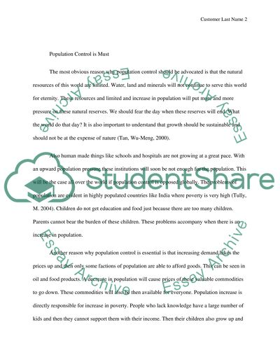 Population control research paper