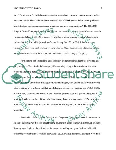 Essay using argument and persuasion on a topic of your choice