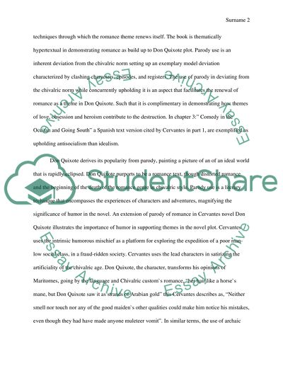 English Essay Short Story Parody In Don Quixote How To Write A Essay For High School also High School Argumentative Essay Examples Parody In Don Quixote Essay Example  Topics And Well Written Essays  A Level English Essay Structure