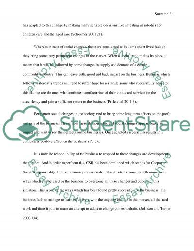 Business Constant Development essay example
