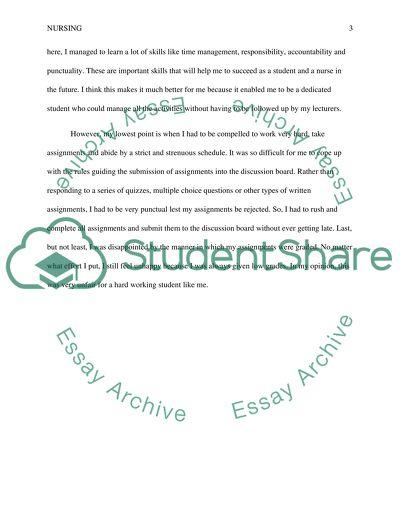 Student nurse essays