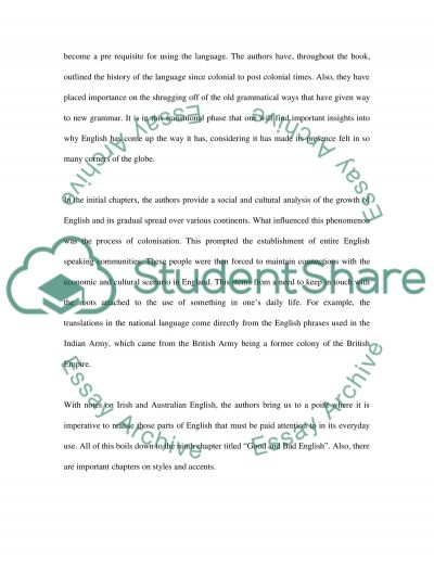 Judgements about English essay example