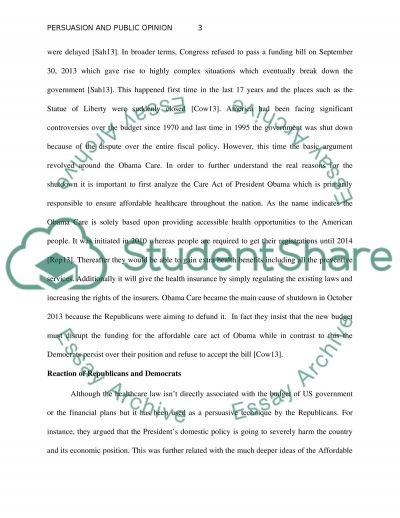 Persuasion and Public Opinion essay example