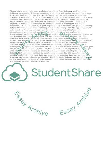 International strategic marketing research and development essay