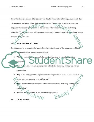 Online Customer Engagement essay example