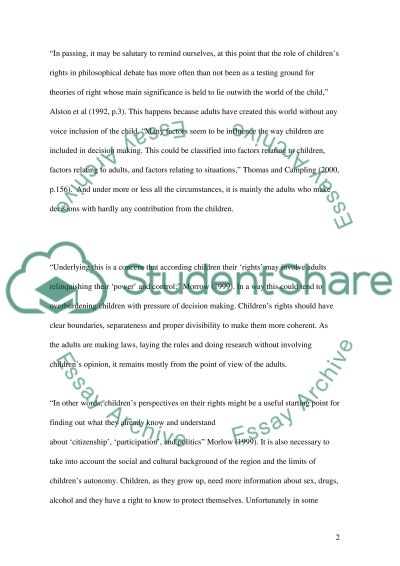 Childrens Rights essay example