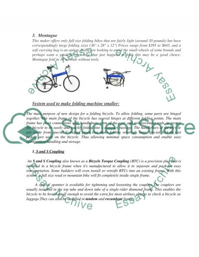 Folding Bicycle essay example